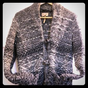 Wilfred cozy thick cardigan with front pockets.